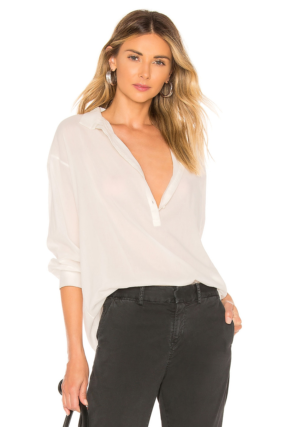 NILI LOTAN Myra Top in Ivory