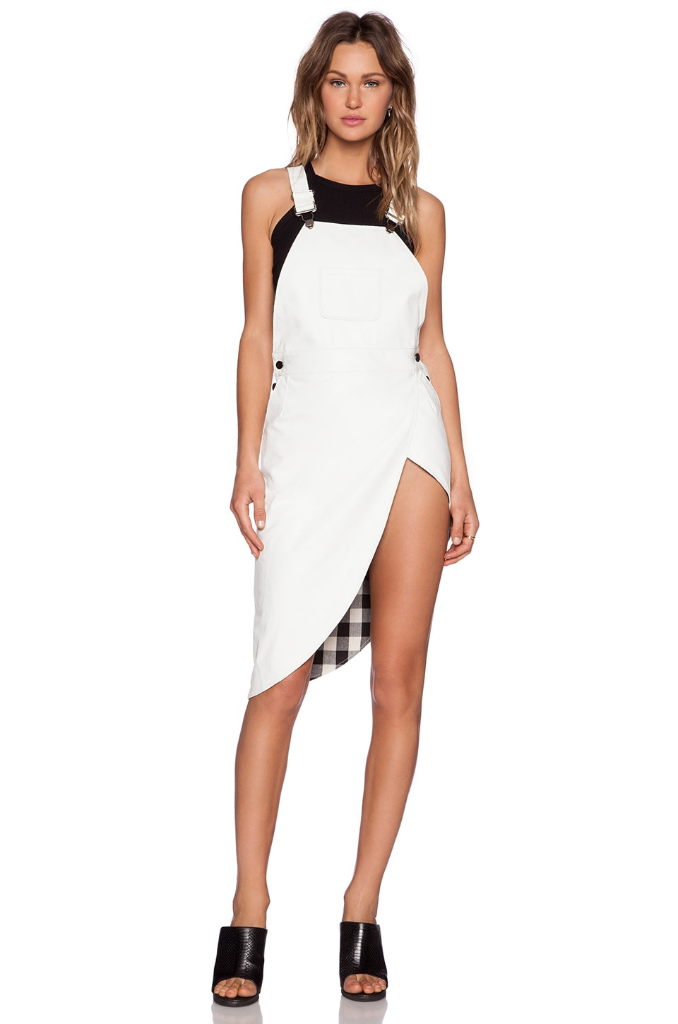 Nightwalker White Knight Overall Dress in White