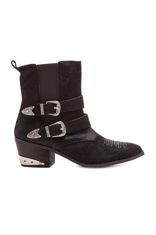 Nightwalker The Sheriff Calf Hair Boot in Black