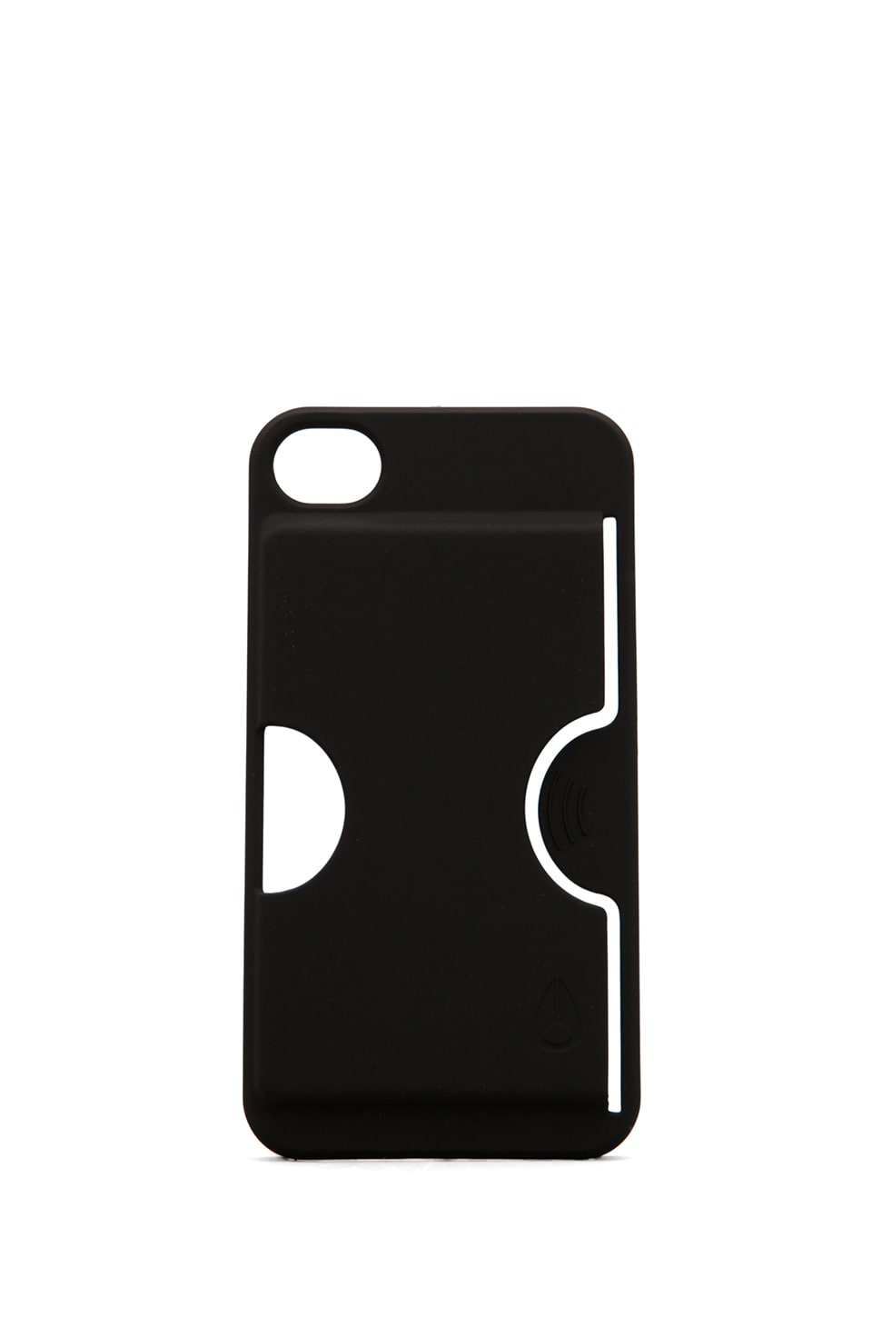 Nixon Carded 4 iPhone Case in Black