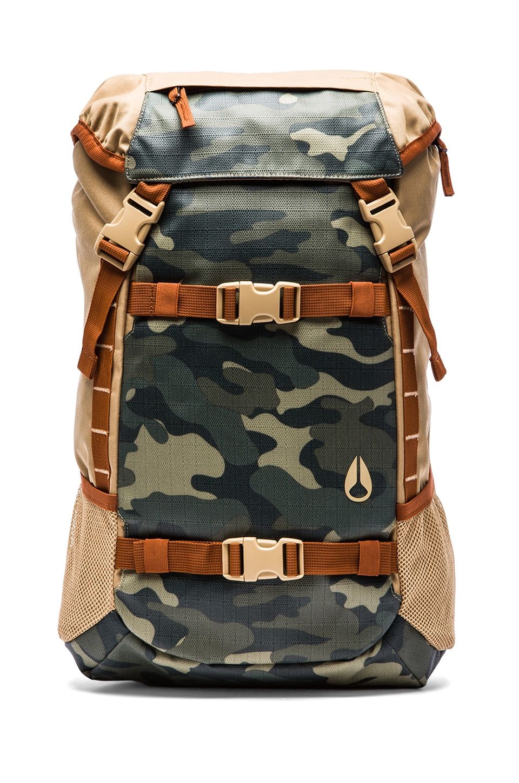Nixon Landlock Backpack in Khaki/ Surplus Camo
