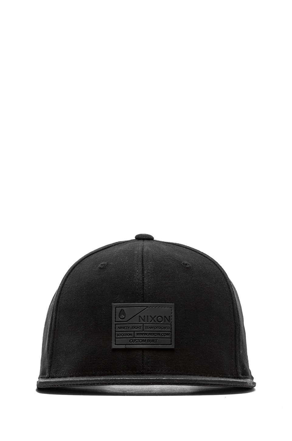 Nixon Burgeon Snap Back in All Black