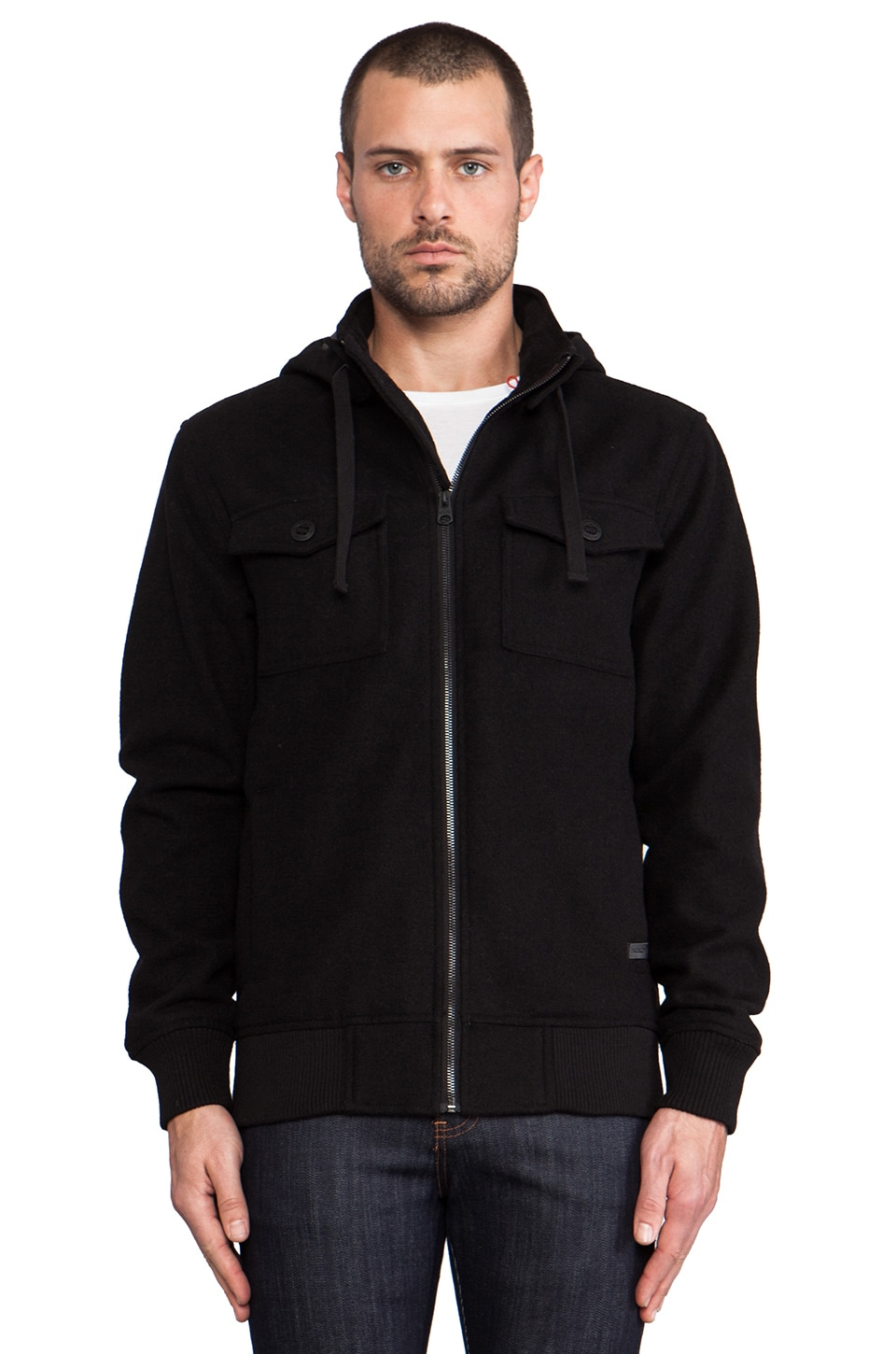 Nixon Captain Jacket in Black