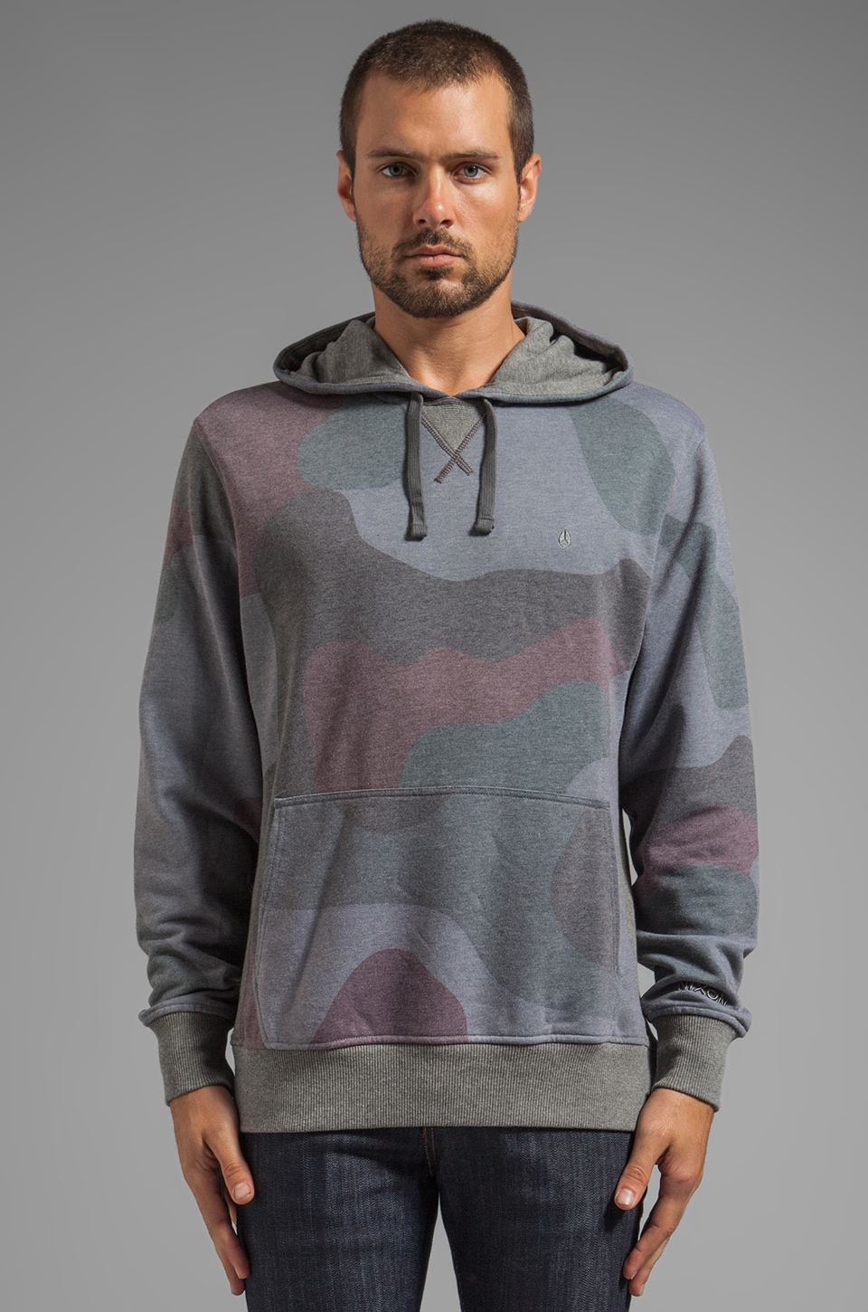Nixon Blackhawk Hood Pullover in Black Camo