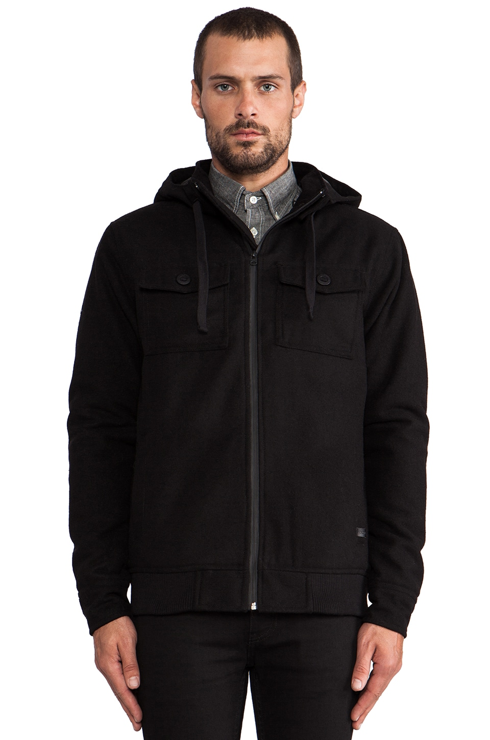 Nixon Captain Quilted Jacket in Black