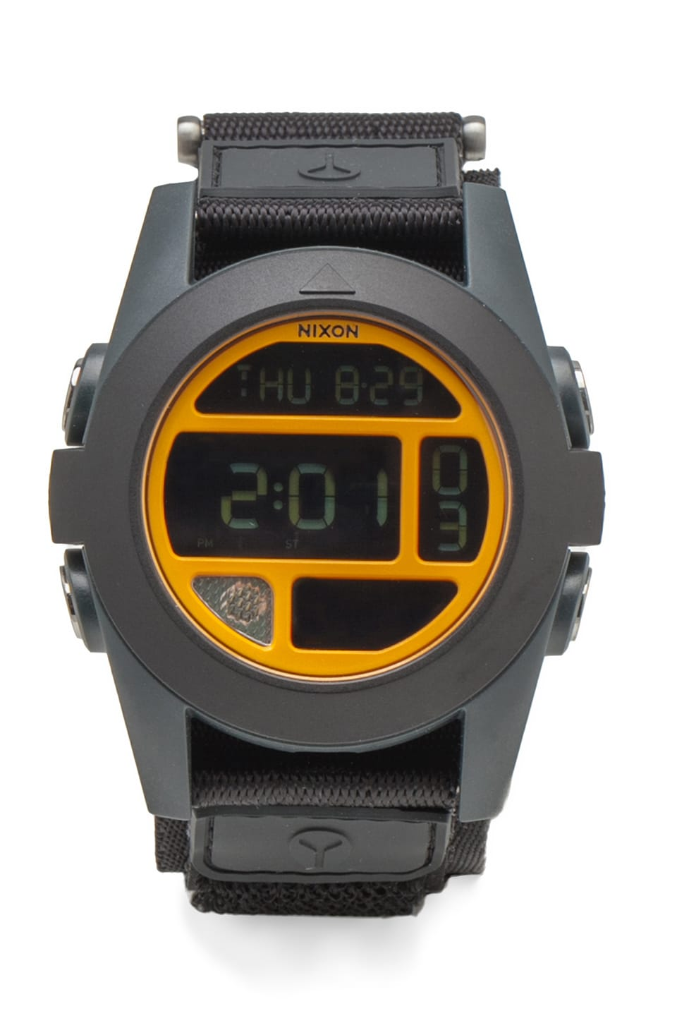 Nixon The Baja in Black/ Steel Blue/ Neon Orange