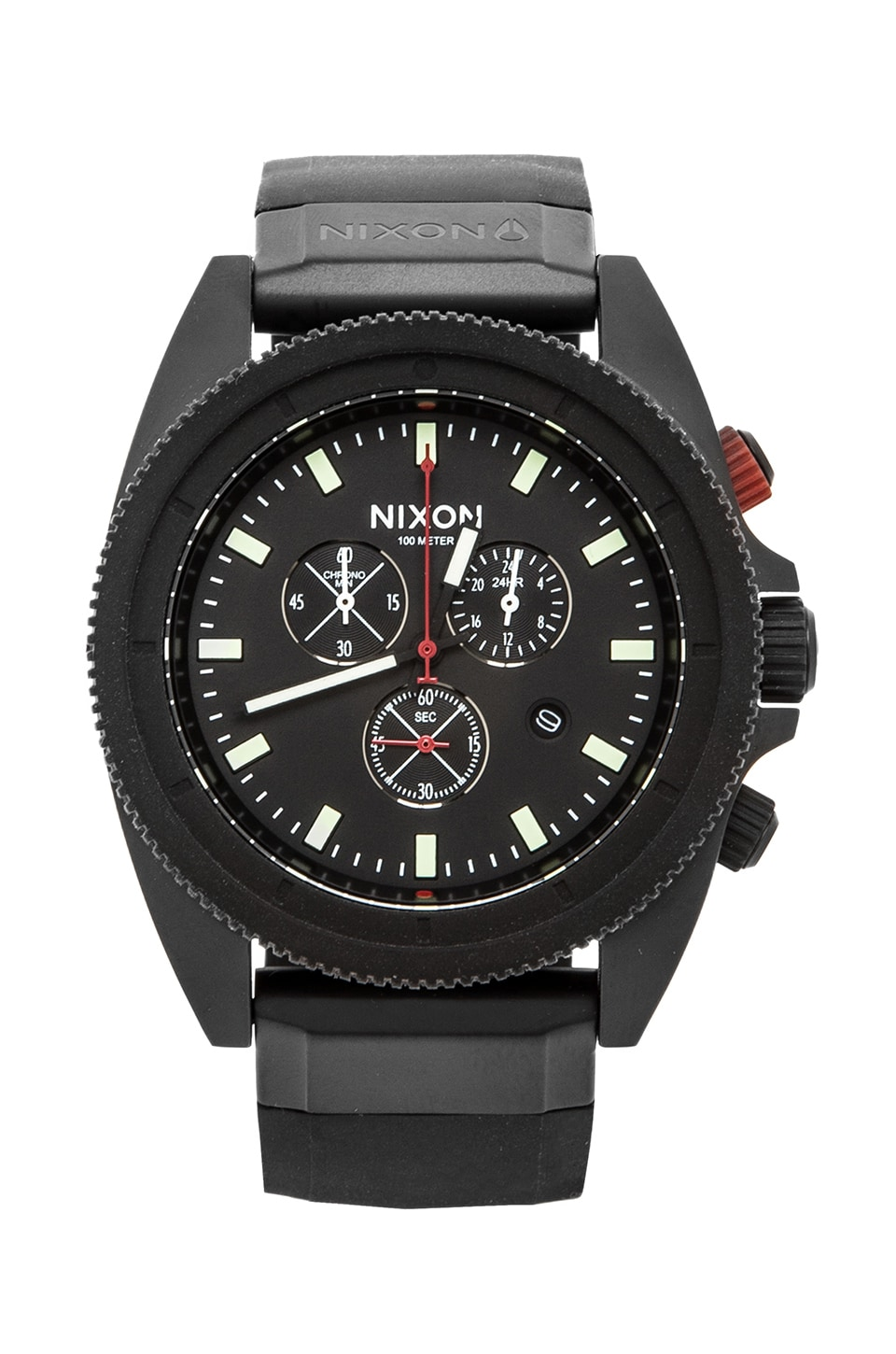 Nixon The Rover Chrono in Black & Red