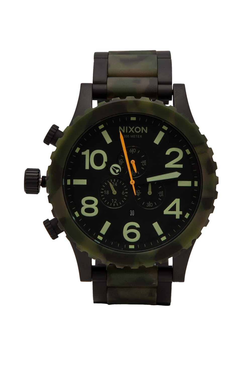 Nixon The 51-30 Chrono in Matte Black & Camo