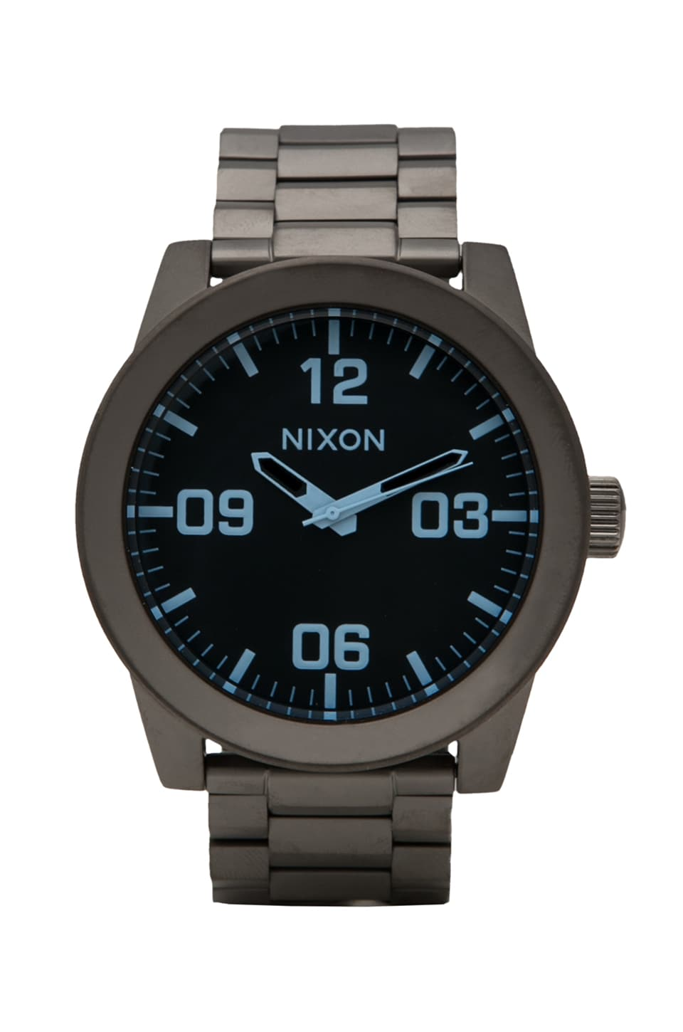 Nixon The Corporal SS in Gunmental & Blue Crystal