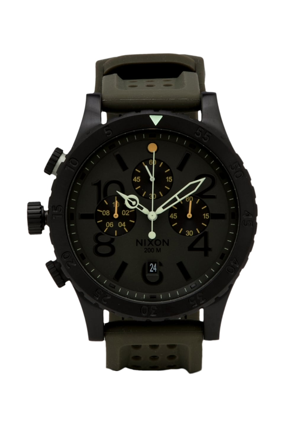 Nixon The 48-20 Chrono in Surplus/ Black