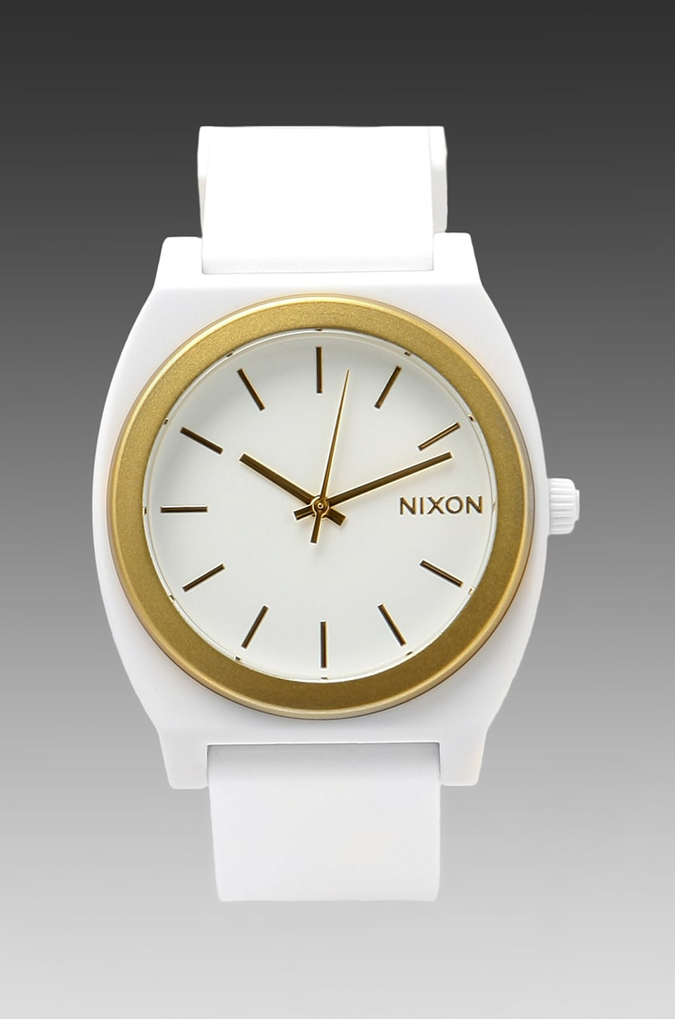 Nixon The Time Teller P in White & Gold Ano
