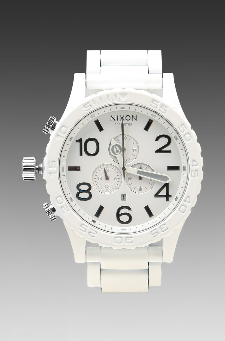 Nixon The 51-30 Chrono in All White/Silver