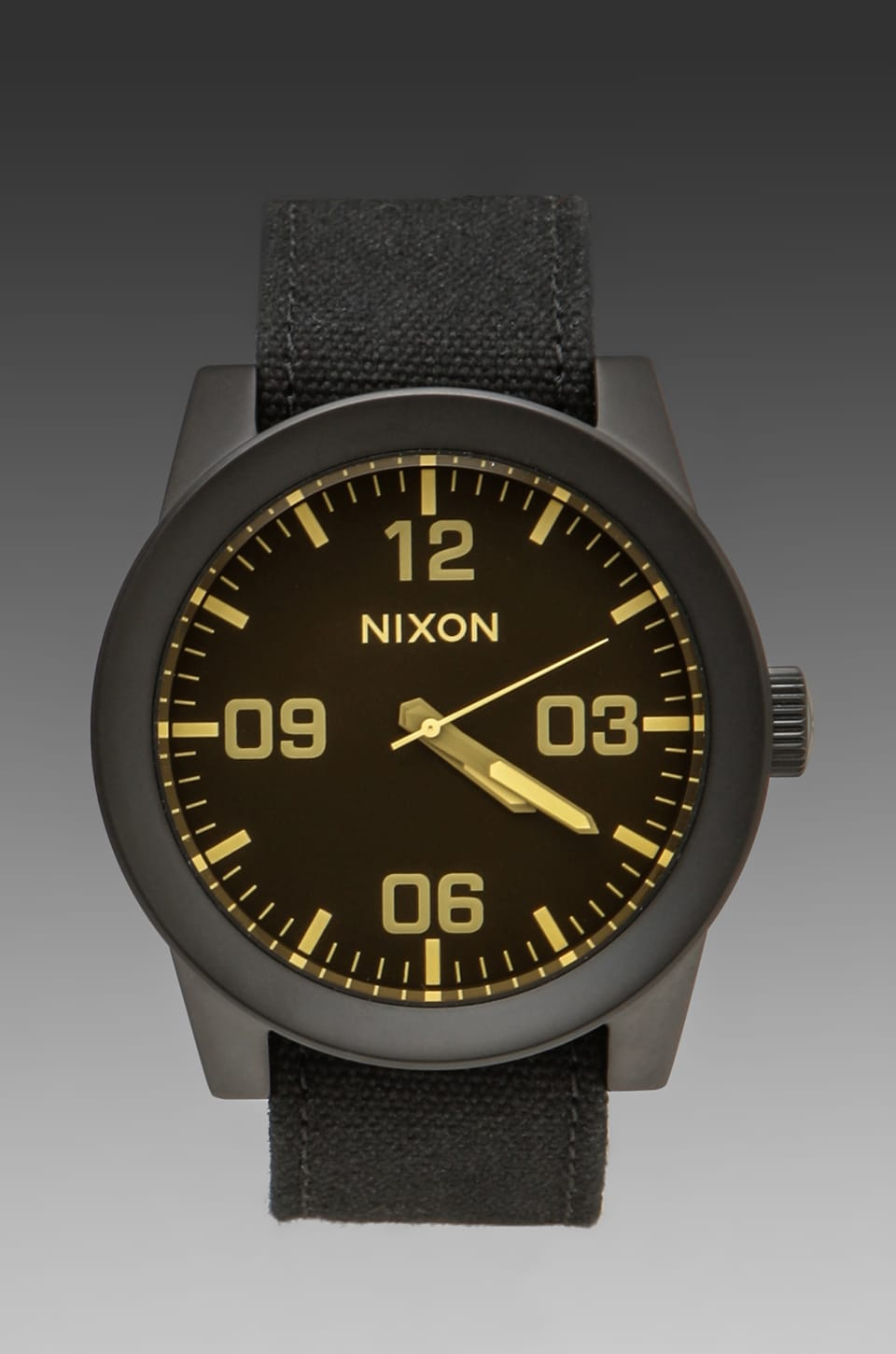 Nixon Sniper Collection The Corporal in Matte Black/Orange Tint