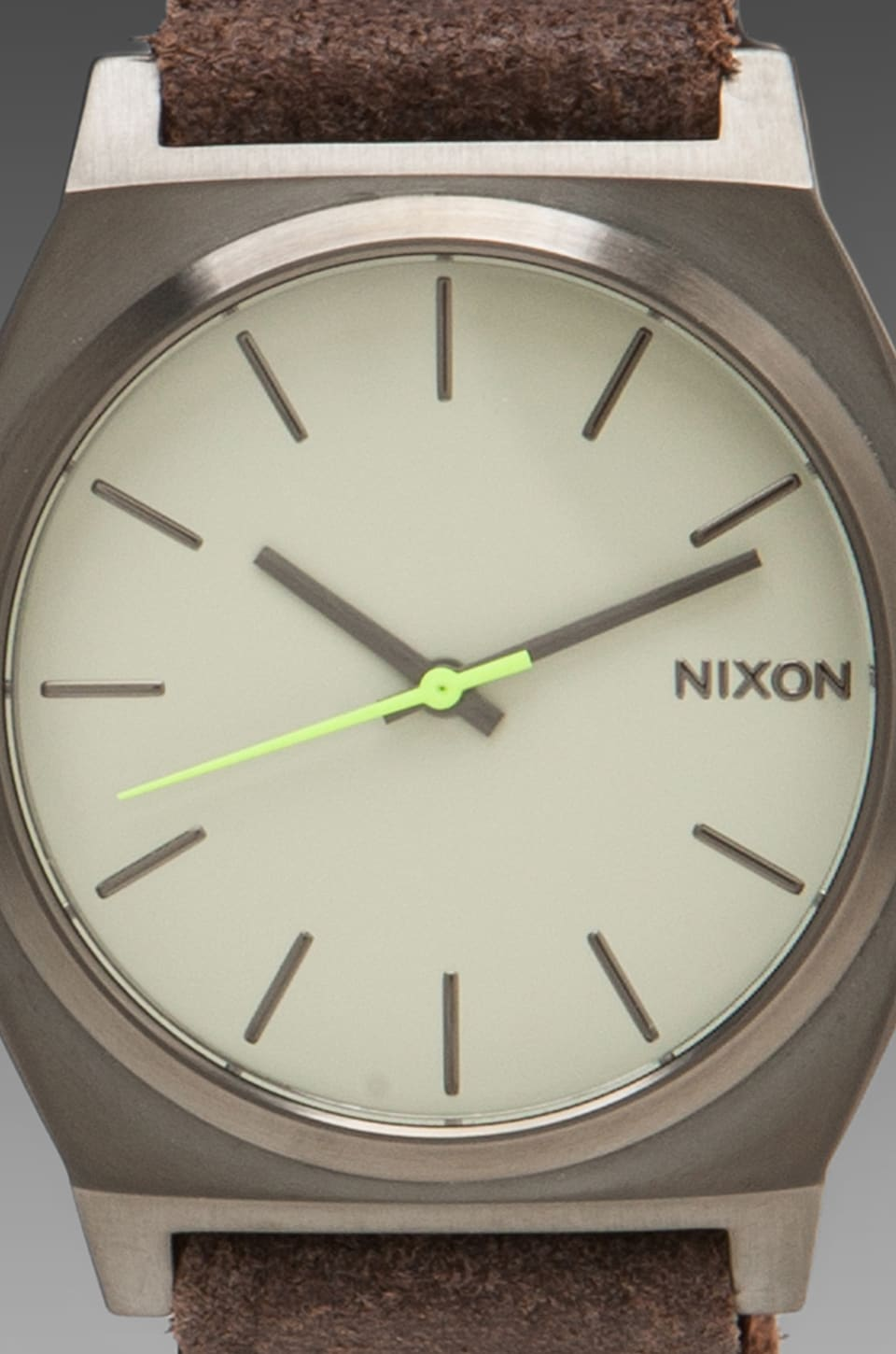 Nixon Gunsmith Collection The Time Teller in Gunmetal/Brown