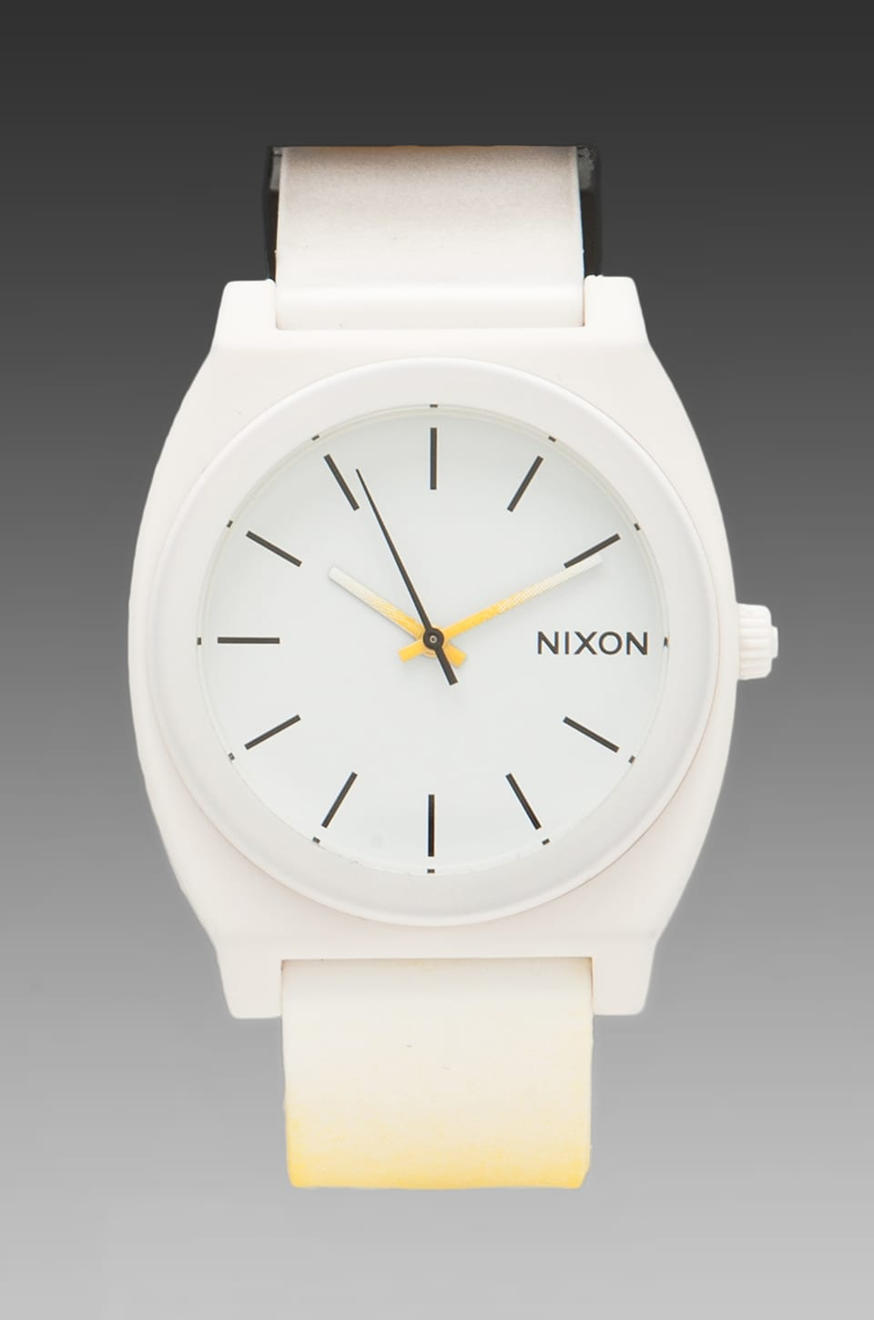 Nixon Dip Dye Collection The Time Teller P in Black/White/Yellow Fade