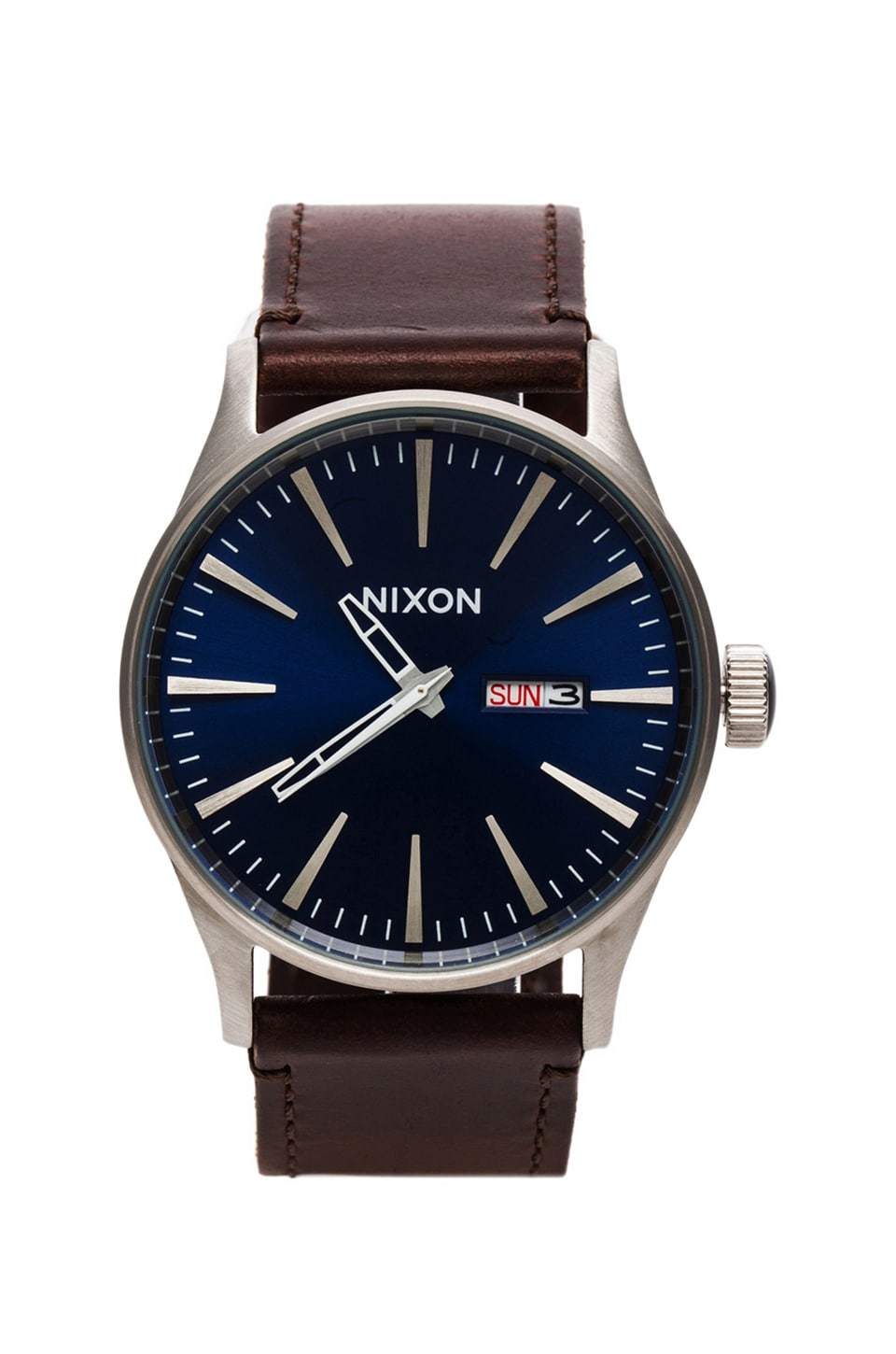 Nixon The Sentry Leather in Blue/Brown