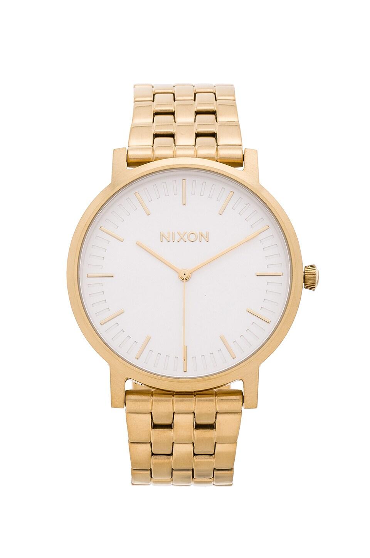 Nixon The Porter in All Gold & White Sunray