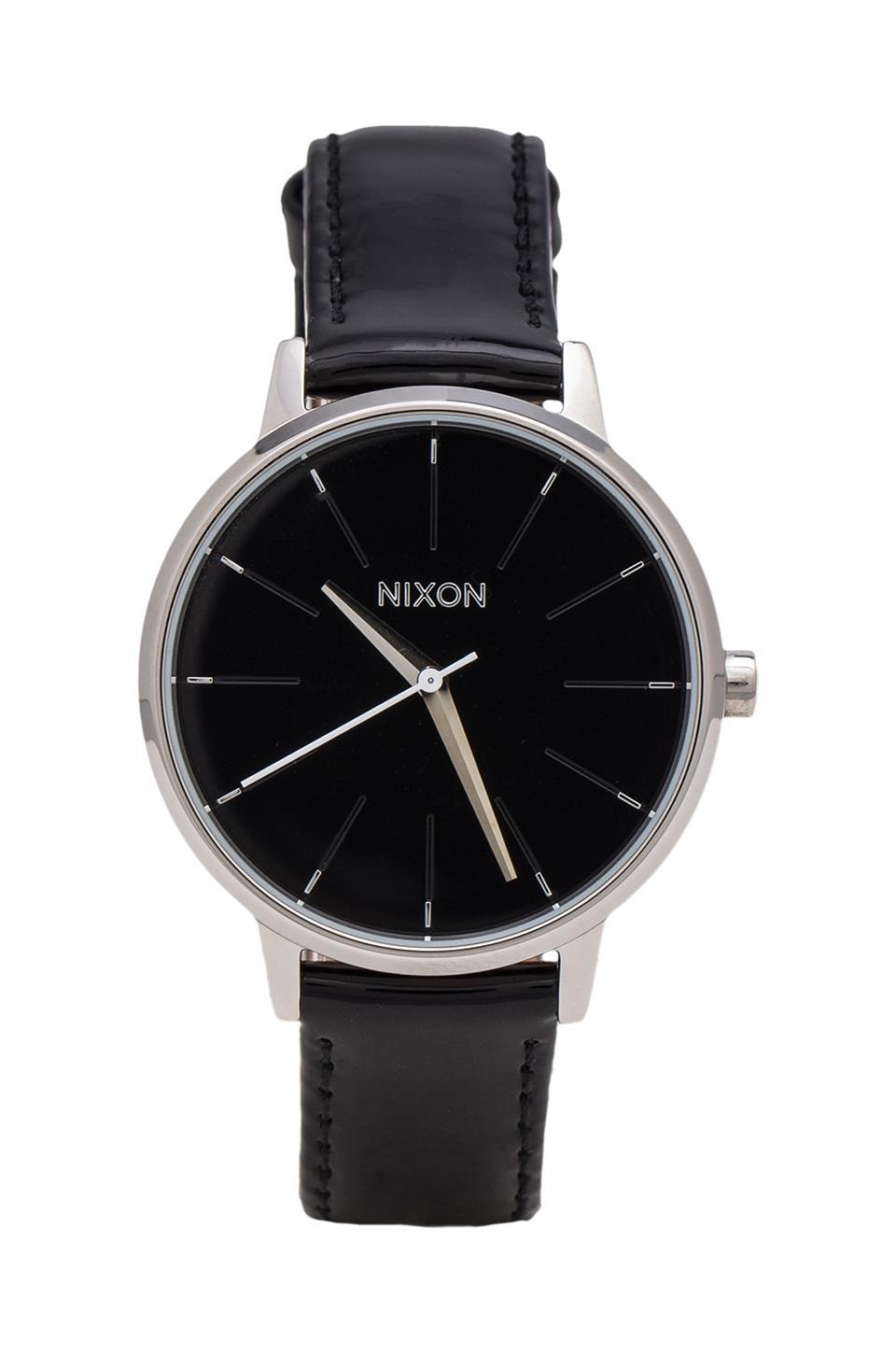 Nixon The Kensington Leather in Black Patent
