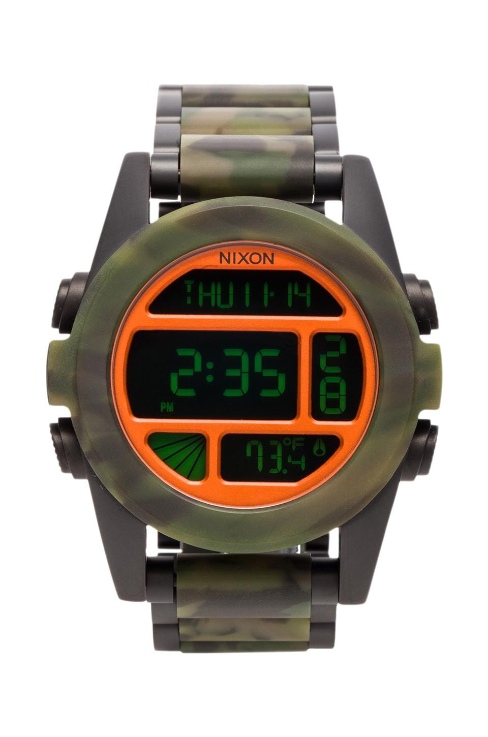 Nixon The Unit SS in Matte Black Camo