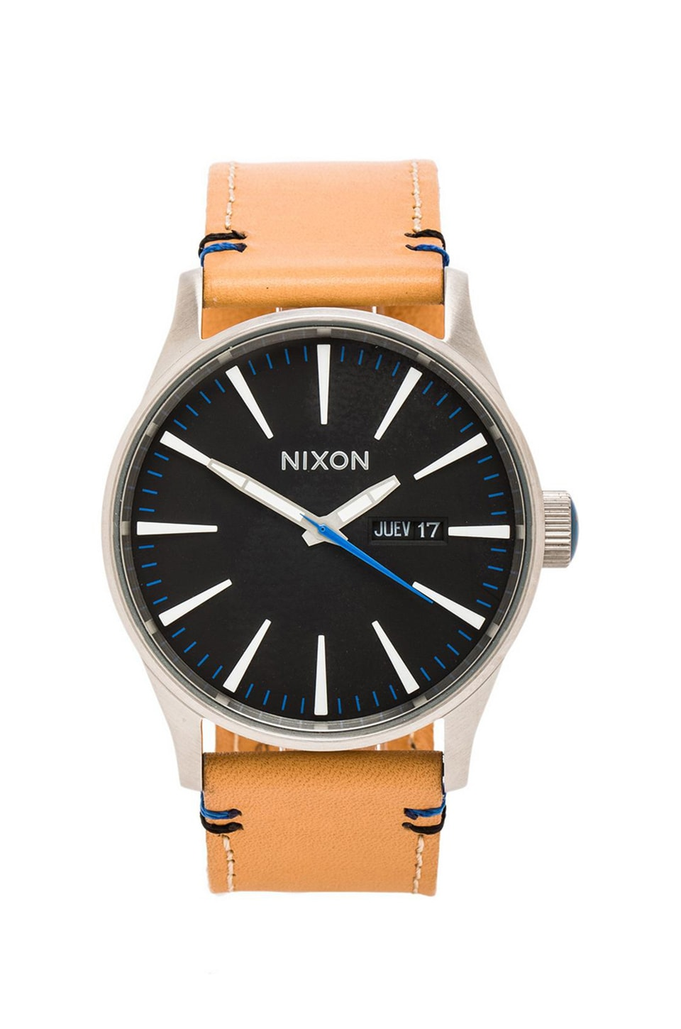 Nixon The Sentry Leather in Natural & Black