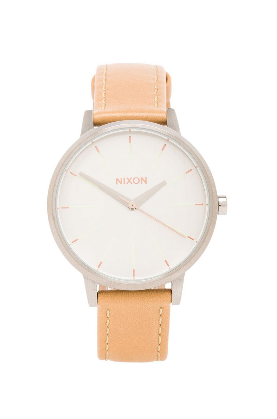 Nixon The Kensington Leather in Natural & Silver