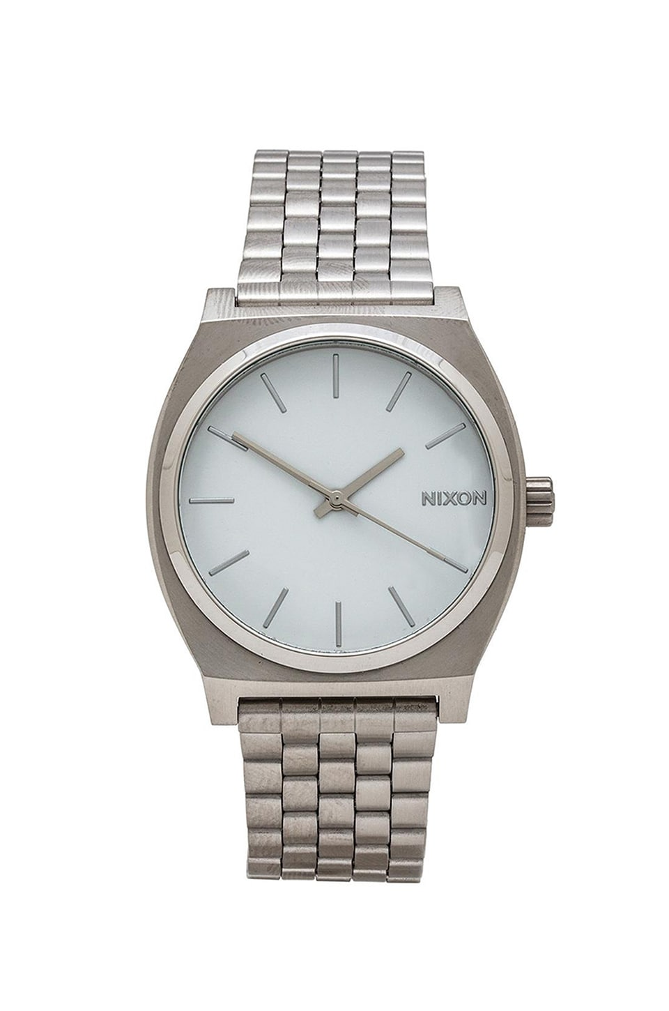 Nixon The Time Teller in Silver & White