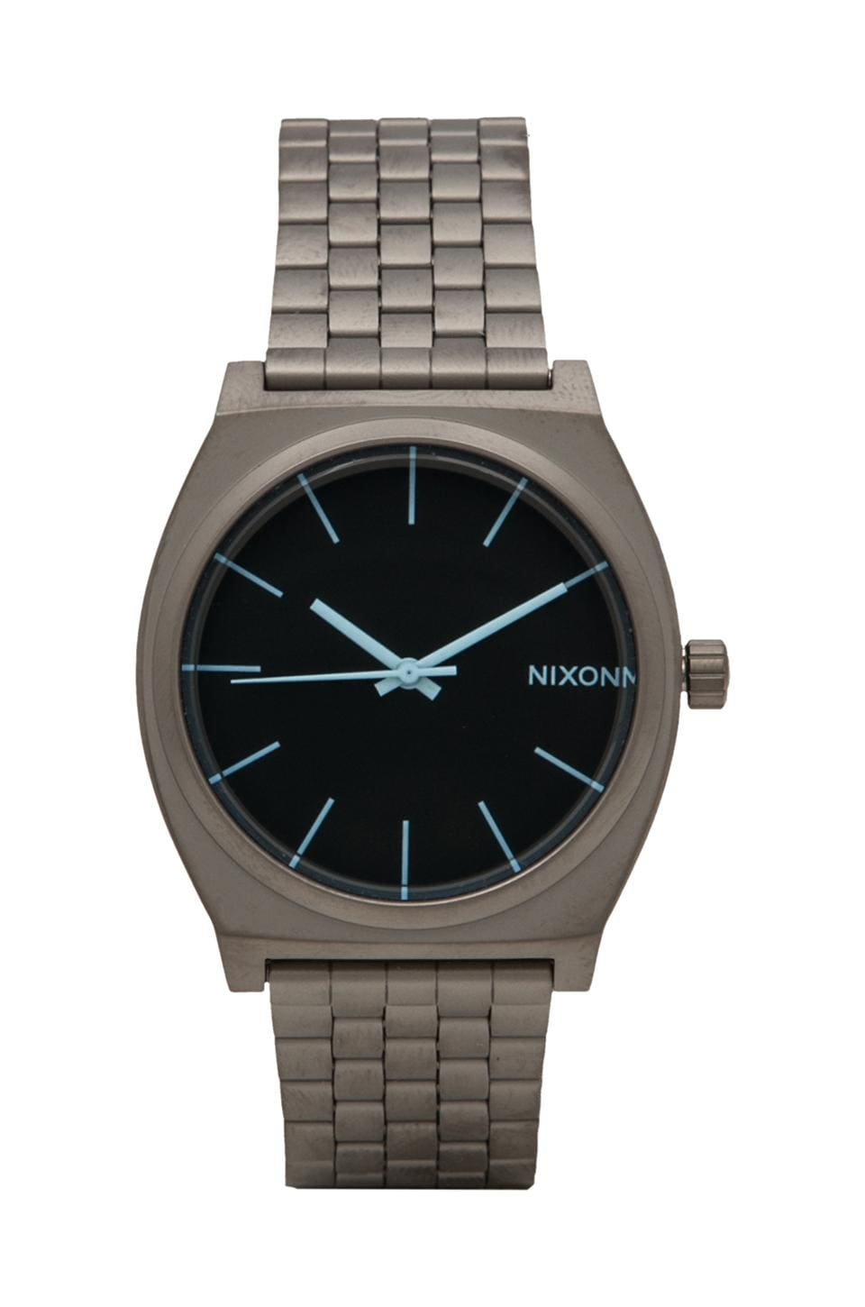 Nixon The Time Teller in Gunmental & Blue Crystal