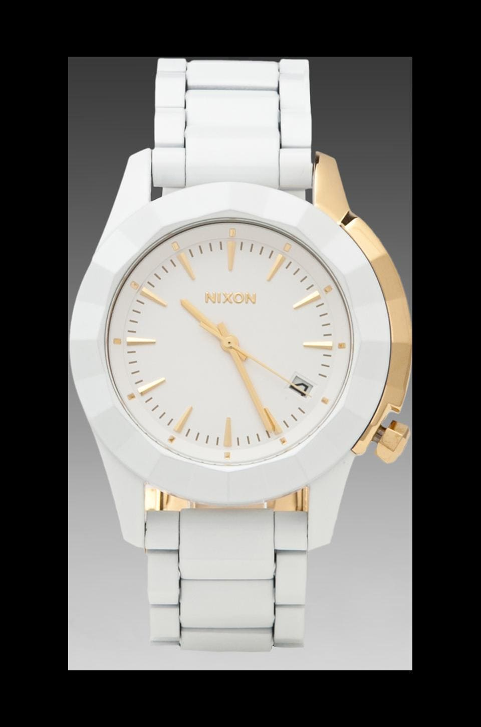 Nixon The Monarch in All White & Gold