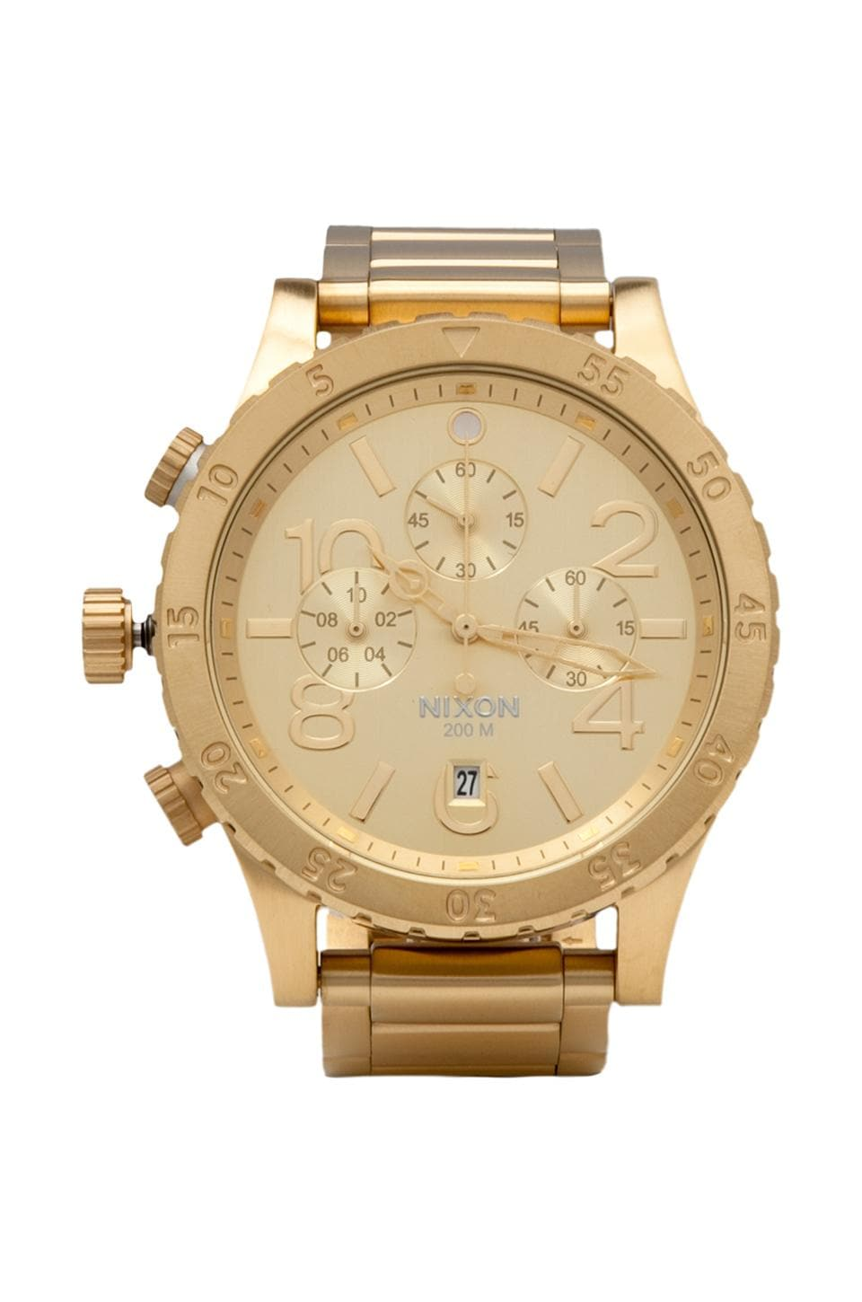 Nixon The 48-20 Chrono in All Gold
