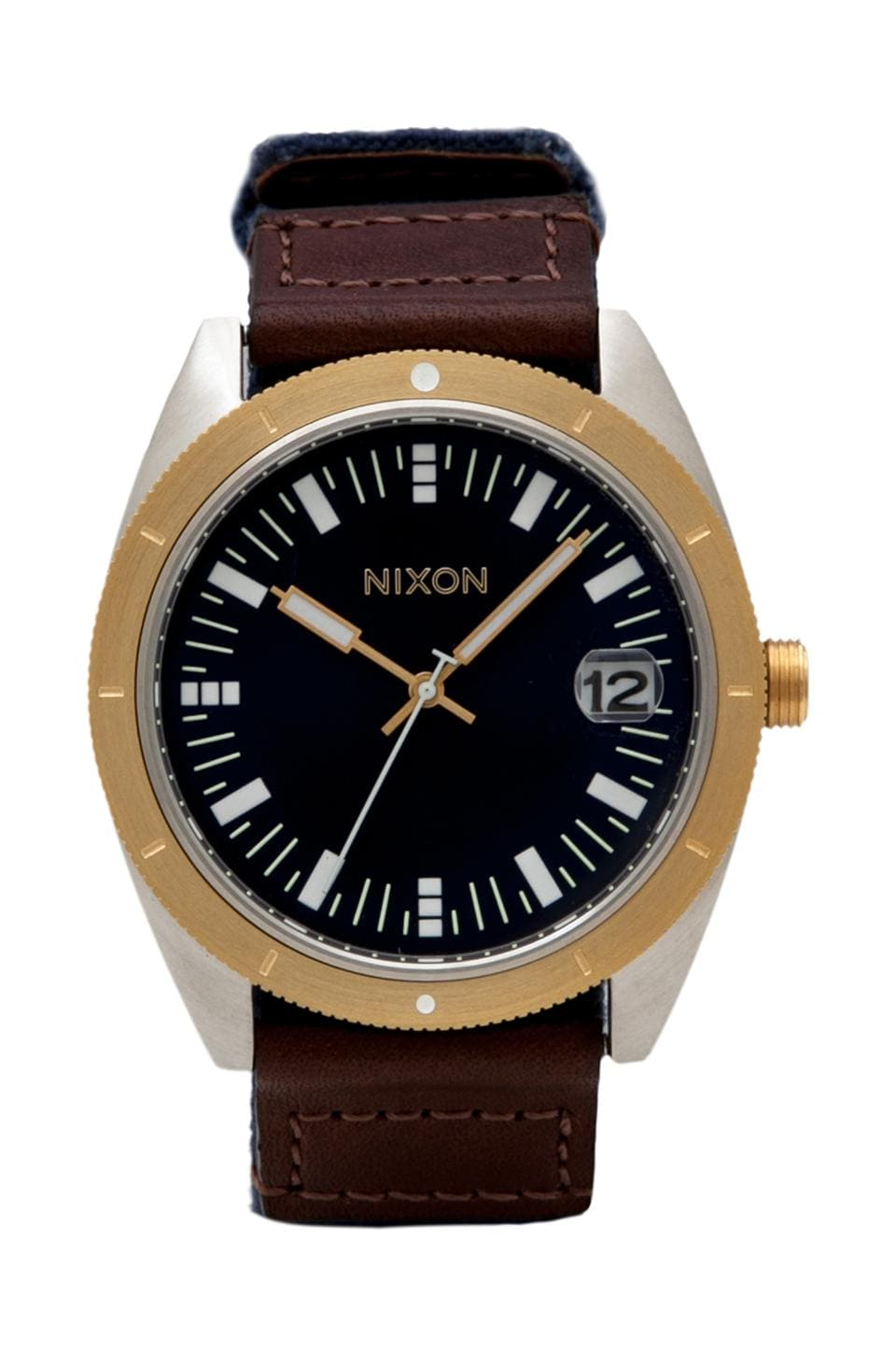 Nixon The Rover in Navy/ Brown/ Gold