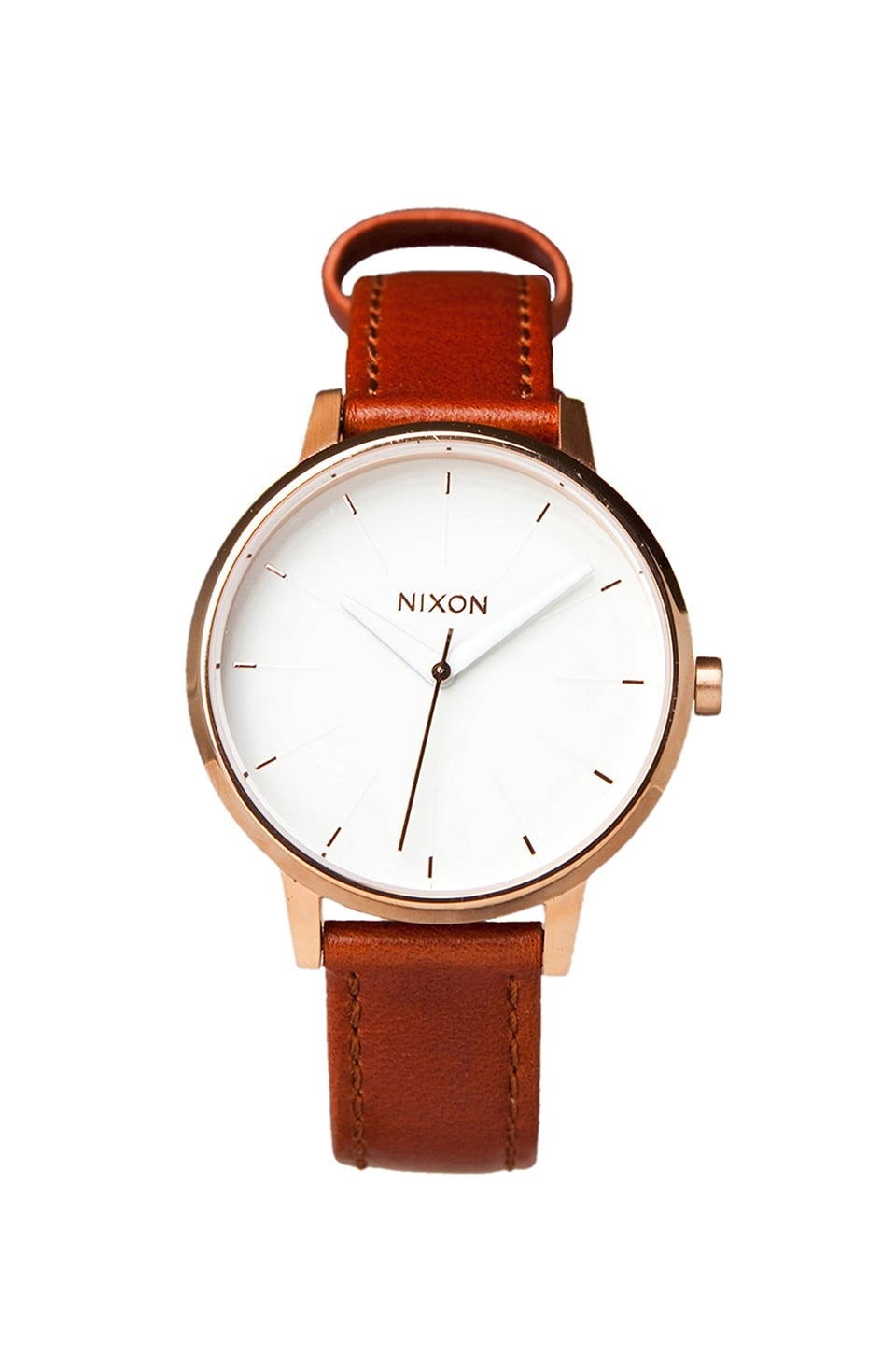 Nixon The Kensington Leather in Rosegold/White
