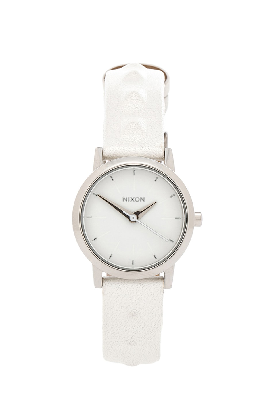 Nixon The Kenzi Leather in White Studded