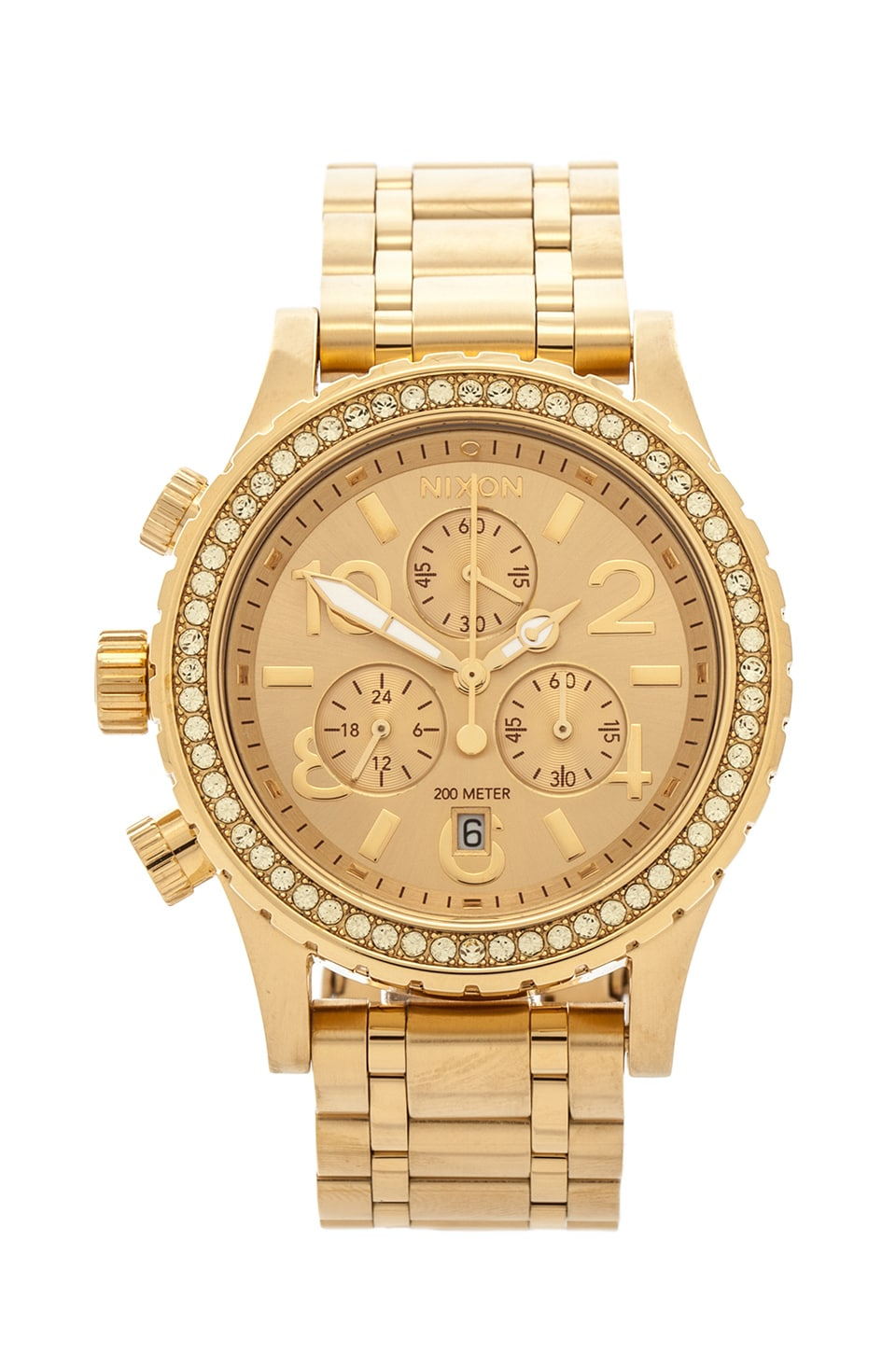 Nixon The 38-20 Chrono in All Gold Crystal
