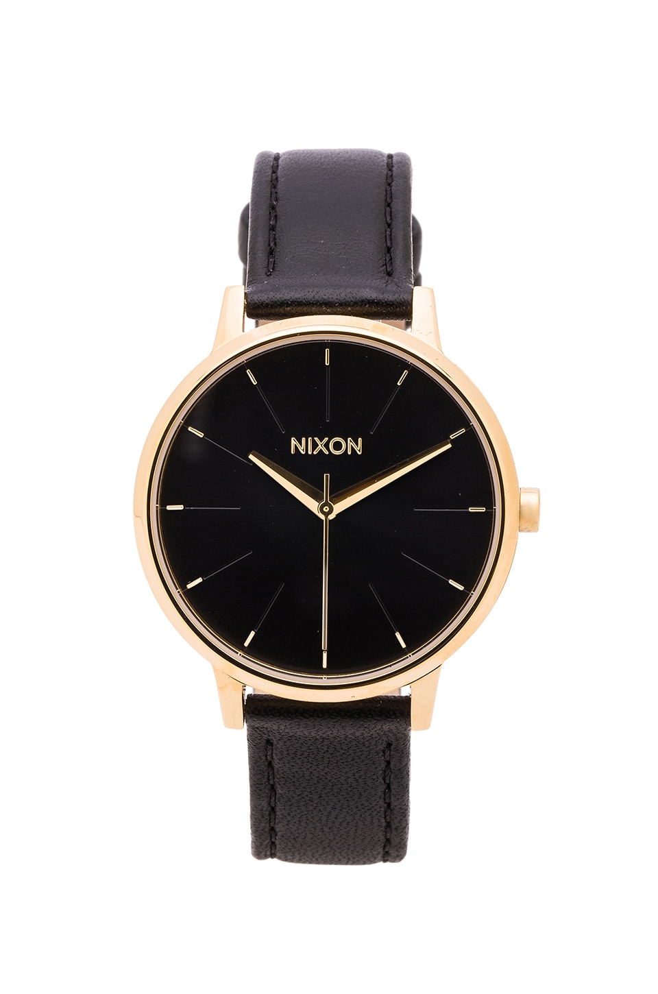 Nixon The Kensington Leather in Gold & Black