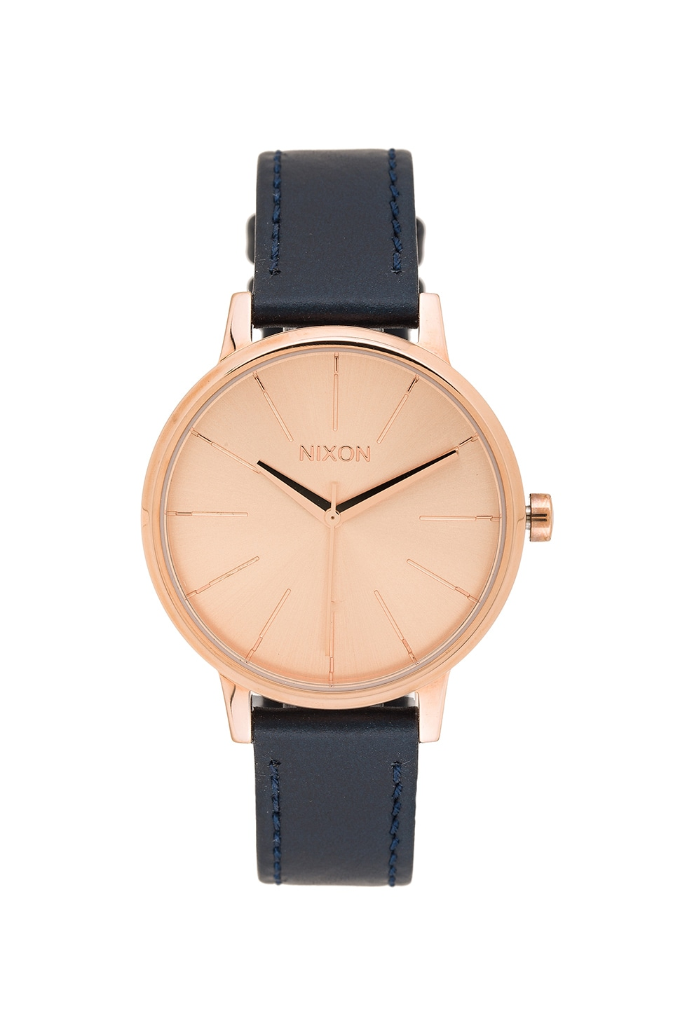 Nixon The Kensington Leather in Rose Gold & Navy