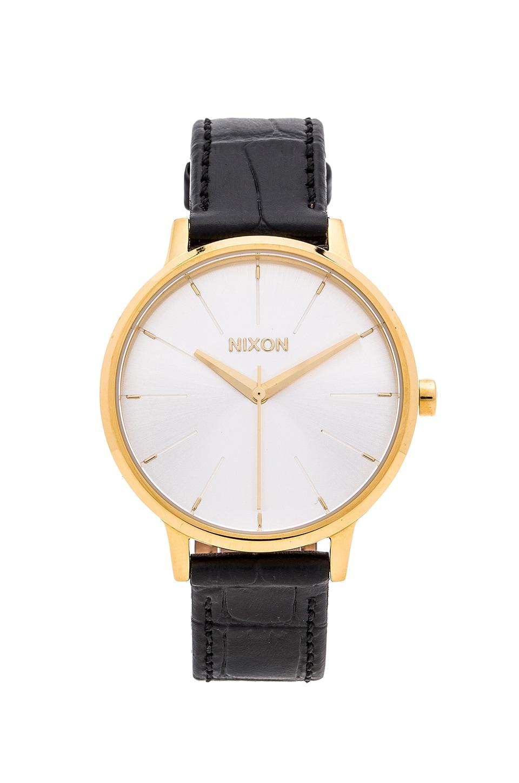 Nixon The Kensington Leather in Gold & Black Gator