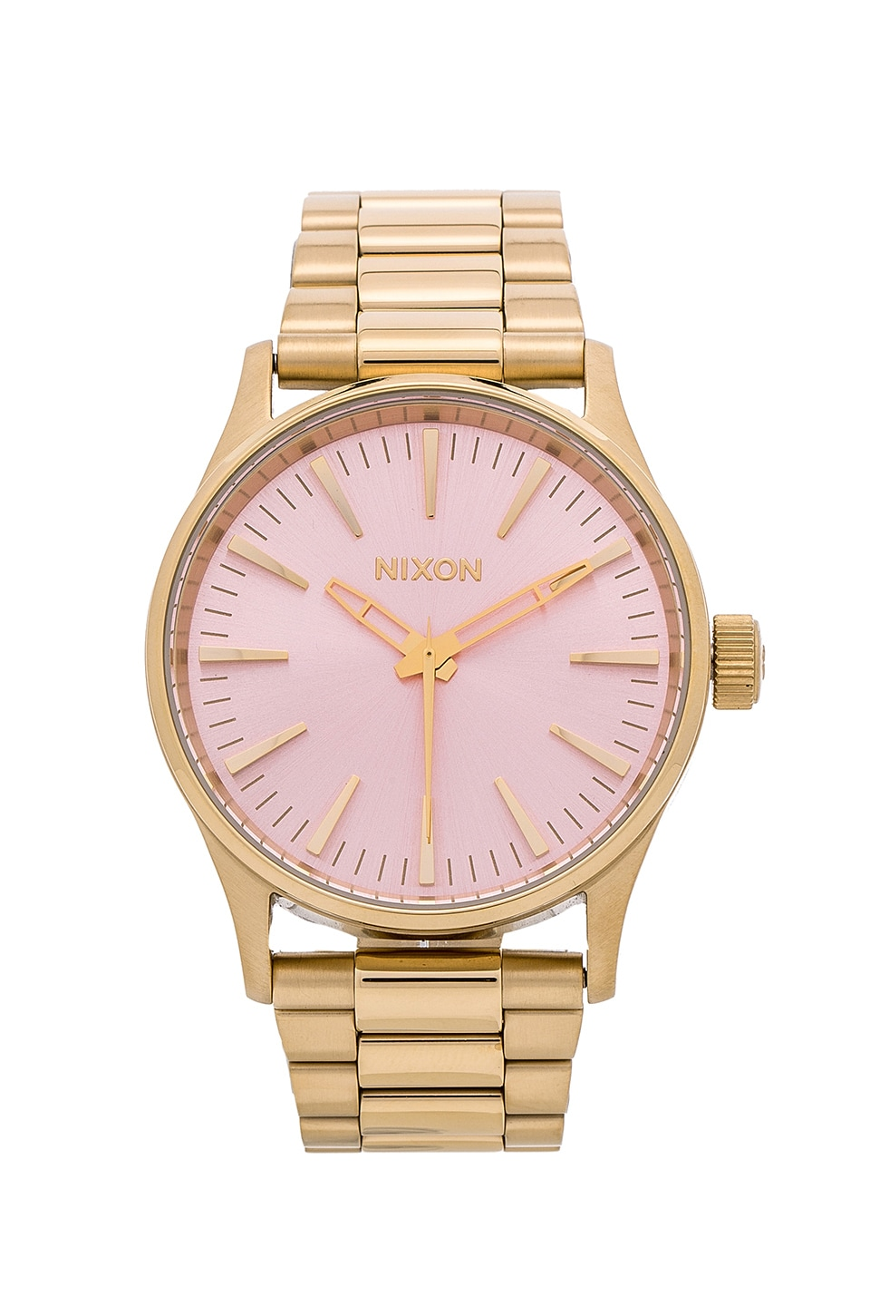 Nixon The Sentry 38 SS in Light Gold & Pink