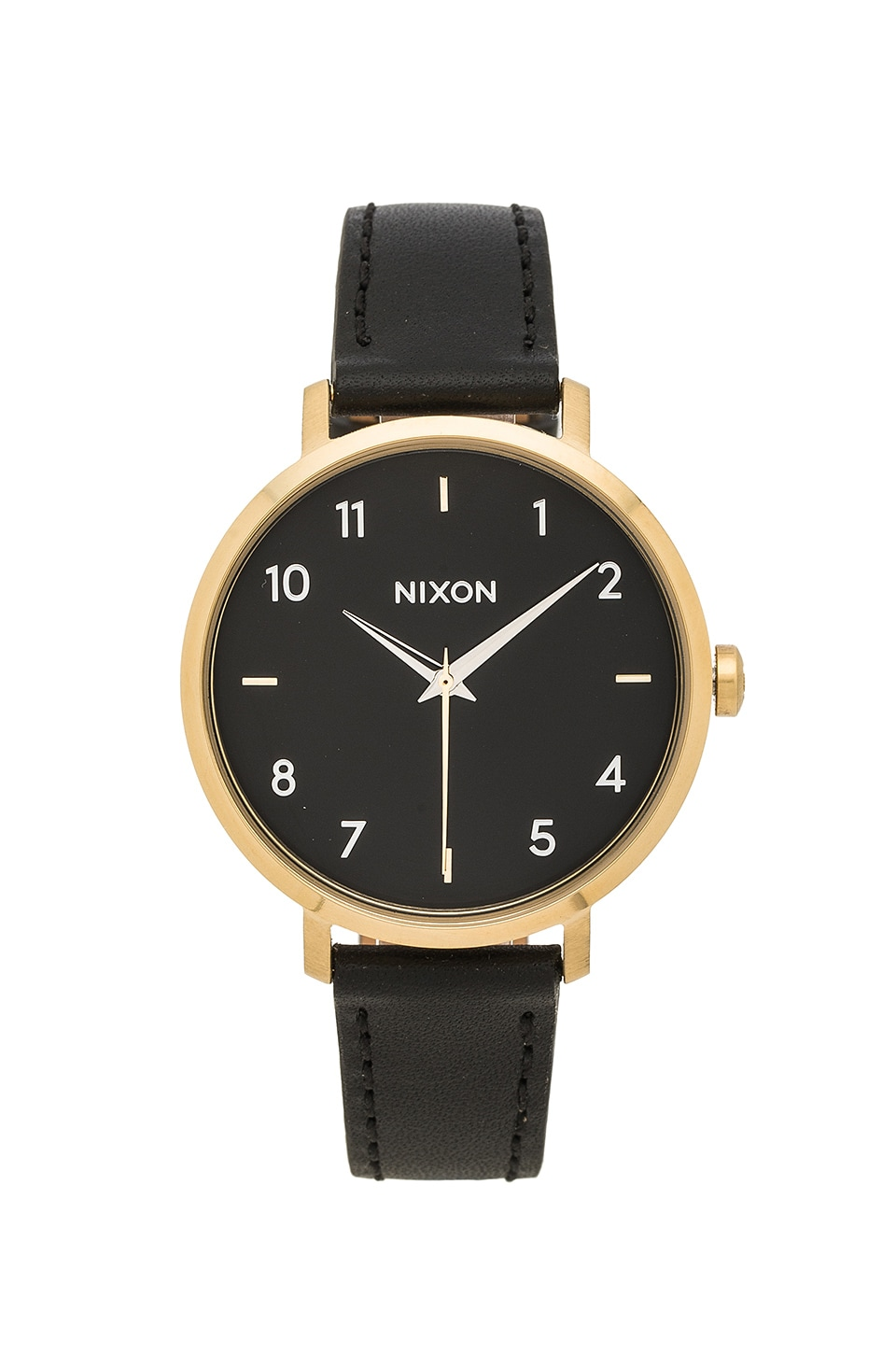 Nixon Arrow Leather in Gold & Black