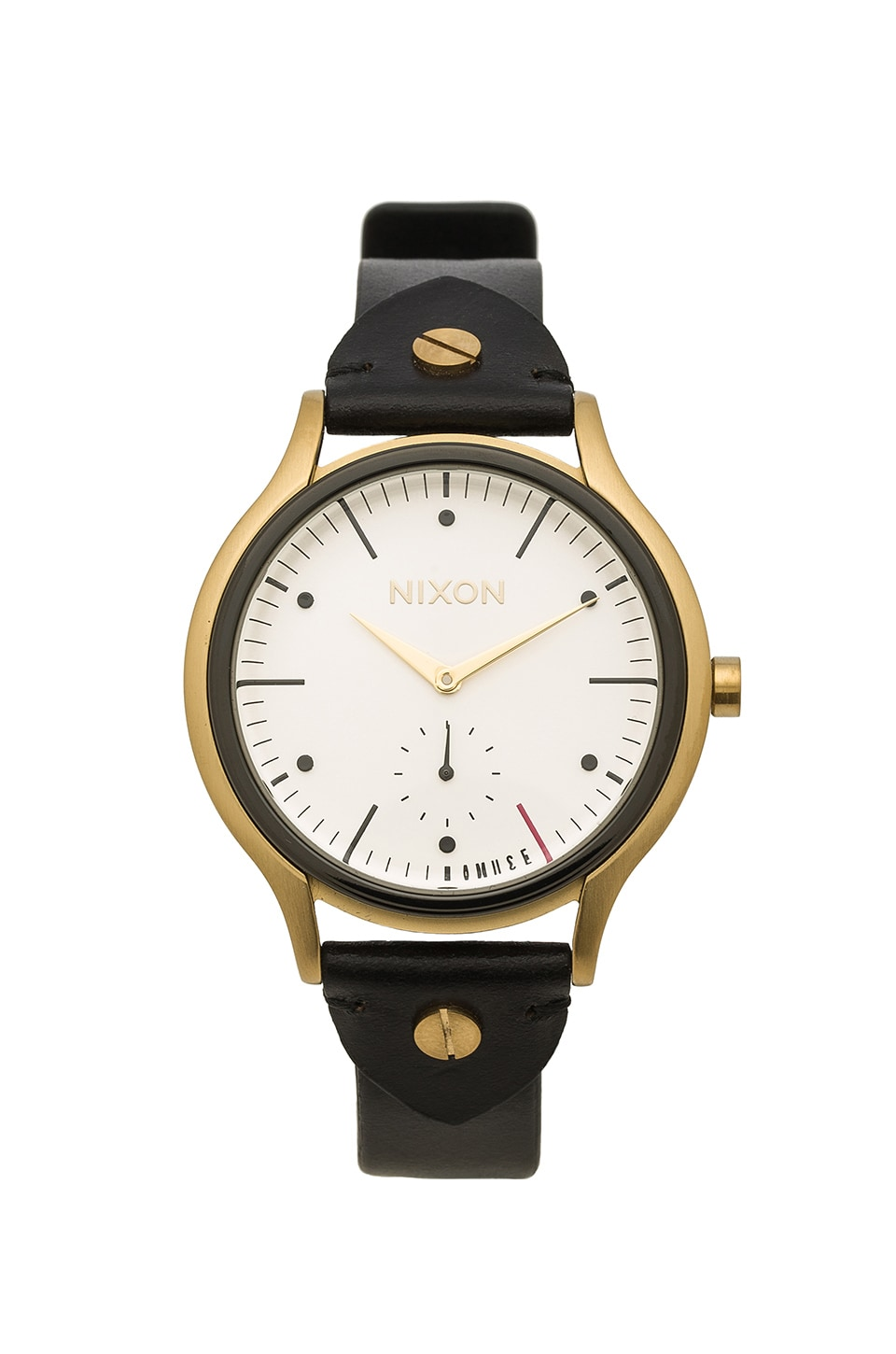 Nixon x AMUSE SOCIETY Sala Leather in Light Gold & Black