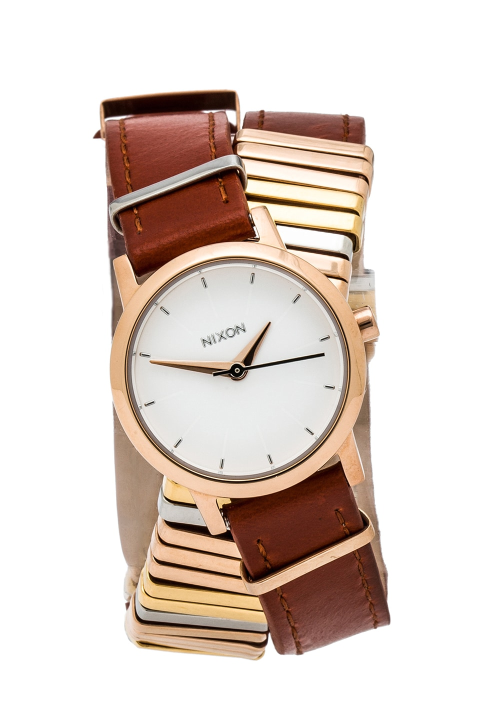 Nixon The Kenzi Wrap in Rose Gold &Mixed