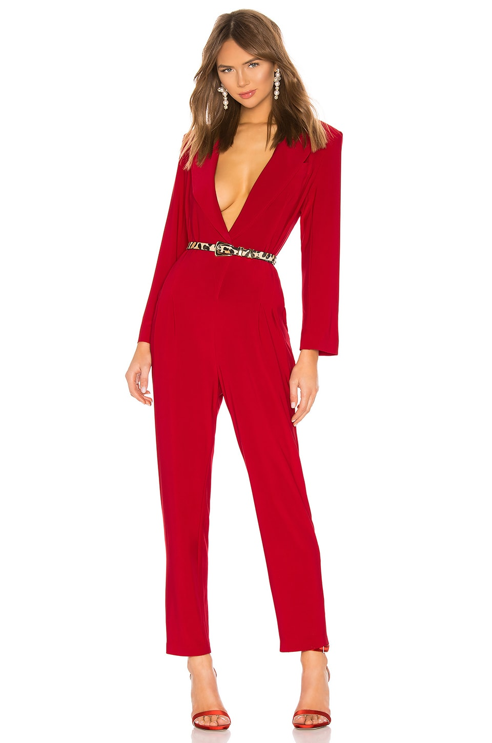 Norma Kamali X REVOLVE Single Breasted Jumpsuit in Red