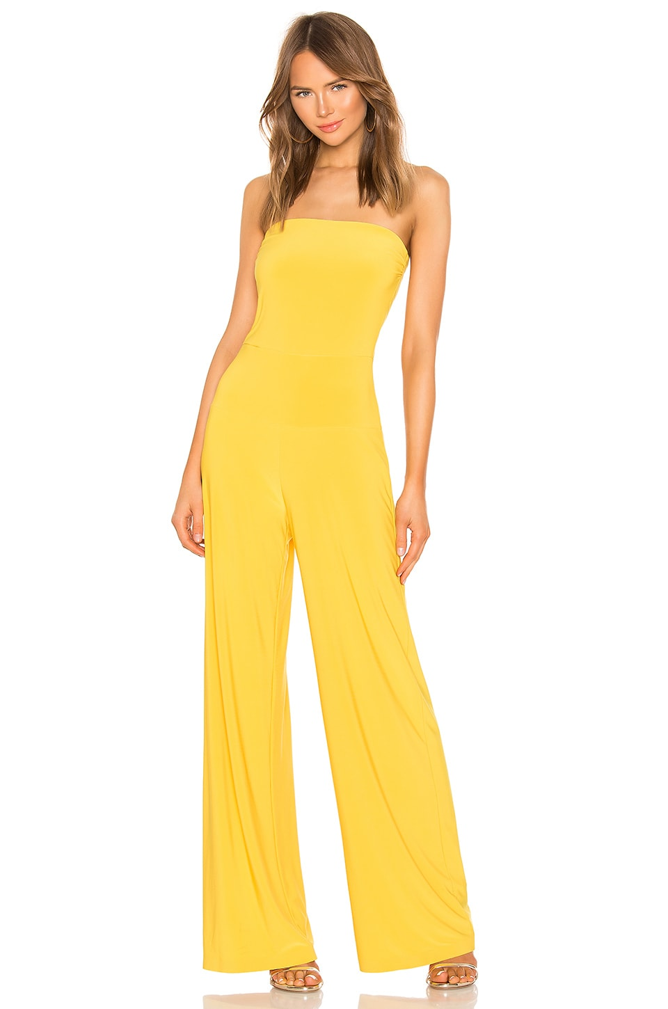 Norma Kamali X REVOLVE Strapless Jumpsuit in Gold