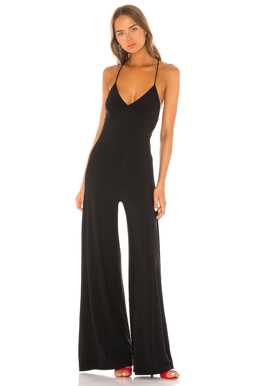 Norma Kamali Low Back Slip Jumpsuit in Black