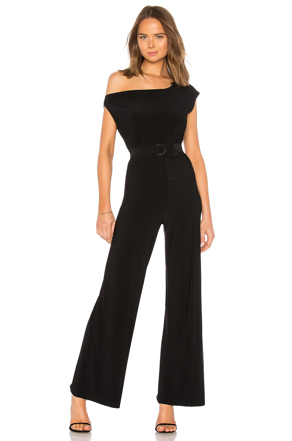 Norma Kamali Drop Shoulder Jumpsuit in Black