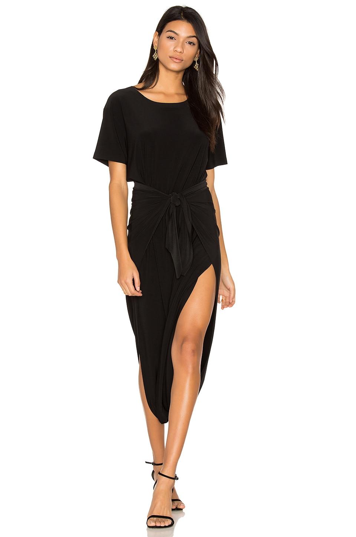 Norma Kamali Short Sleeve Diaper Dress in Black
