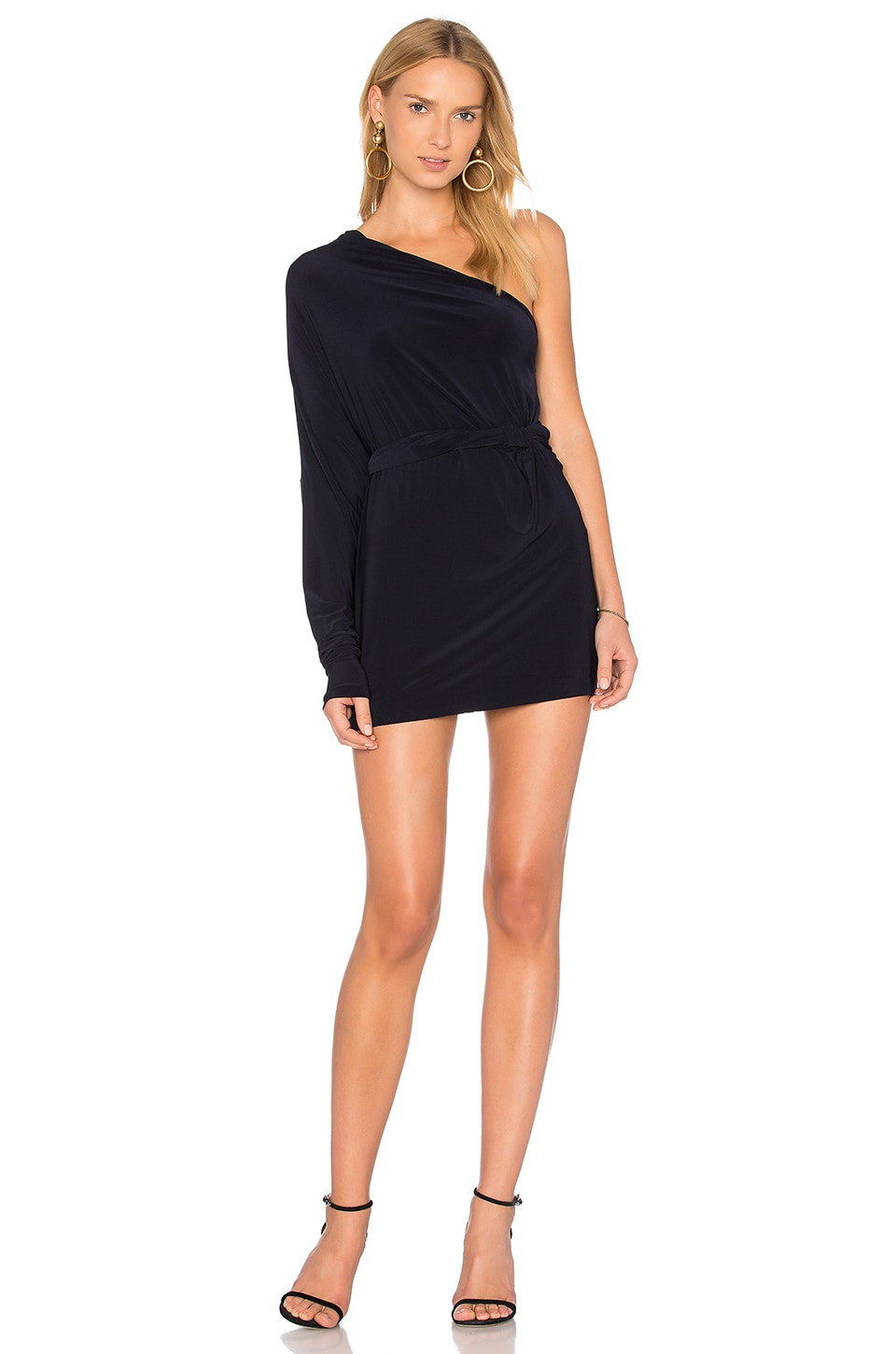 Norma Kamali All In One Mini Dress in Midnight