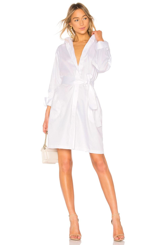 Norma Kamali Shirt Dress in White