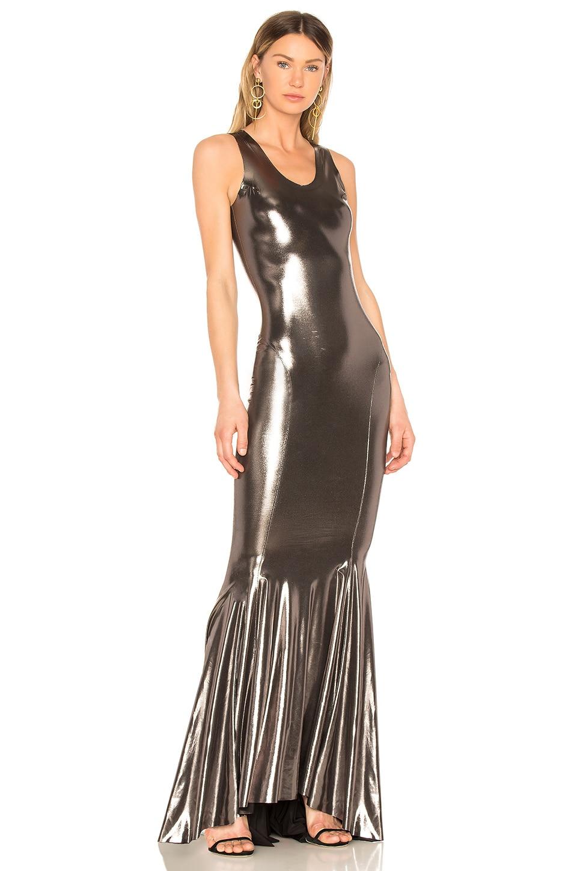 46f84563e60 Norma Kamali Racer Gown in Gunmetal