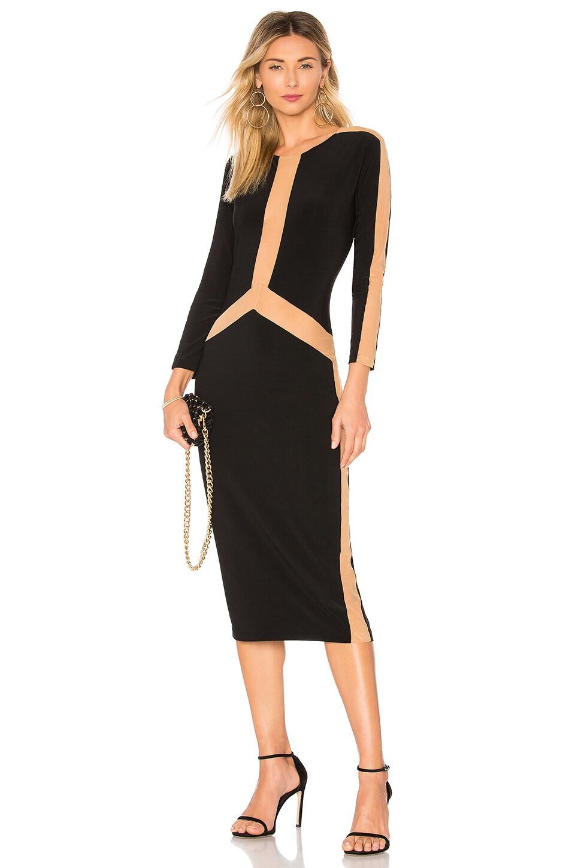 Spliced Long Sleeve Dress