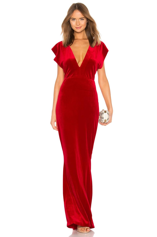 V Neck Velvet Rectangle Dress